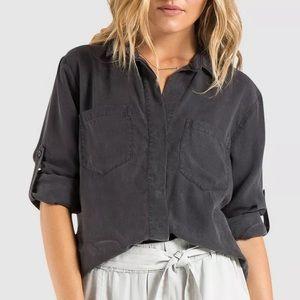 Anthropologie Cloth & Stone Grey Button Down Shirt